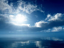 Gentle blue sea Royalty Free Stock Photos
