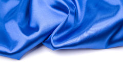 Gentle blue silk. Stock Photos