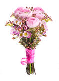 Gentle bouquet from pink roses Royalty Free Stock Images