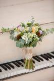 Gentle bridal bouquet Stock Images