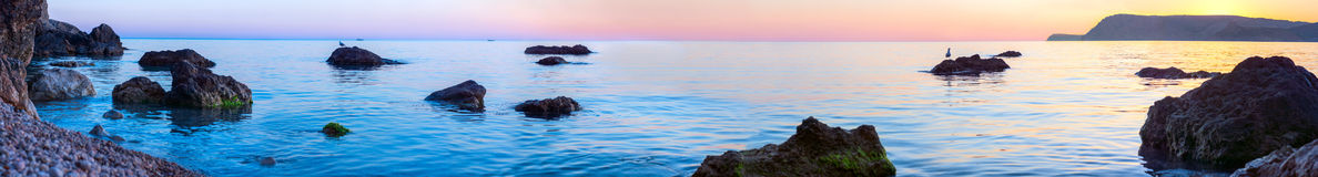 Gentle, calm, evening landscape Royalty Free Stock Photography