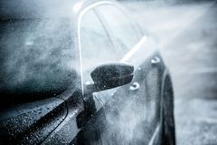 Gentle Car Washing Royalty Free Stock Photos