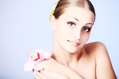 Gentle care royalty free stock image