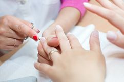 Gentle care of nails Royalty Free Stock Photography