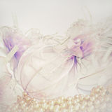 Gentle Christmas background. From Christmas balls Royalty Free Stock Images