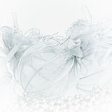Gentle Christmas background. From Christmas balls Royalty Free Stock Image