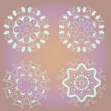 Gentle circle ornament Royalty Free Stock Image