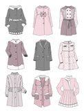 Gentle coats for little girls Royalty Free Stock Images
