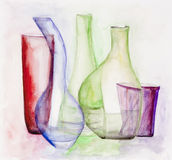 Gentle colored glass Royalty Free Stock Image