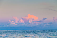 The gentle colors of sunset over the sea Royalty Free Stock Image