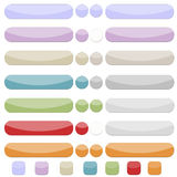 Gentle colourfull web buttons Stock Photo
