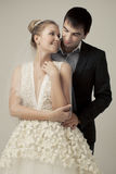 Gentle couple of lovers groom and bride. Royalty Free Stock Photos