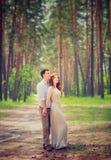 Gentle couple on romantic date Stock Image