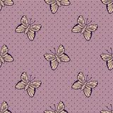 Gentle dotted lace with butterflies Stock Images
