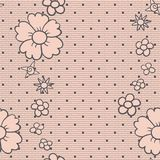 Gentle dotted lace Royalty Free Stock Images