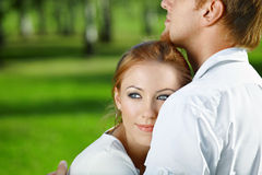 Gentle embraces Stock Photography