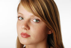 Gentle face of the young blonde Royalty Free Stock Photo