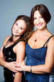 Gentle family relations of mother with daughter Royalty Free Stock Photo