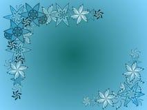 Gentle Floral Border Background Stock Image