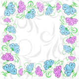 Gentle floral frame Royalty Free Stock Photo
