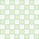 Gentle floral seamless checkered wallpaper pattern Stock Image