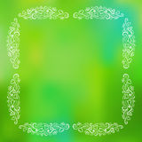 Gentle Frame On Green Blurred Background Royalty Free Stock Image
