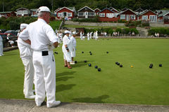 A gentle game of bowls Stock Photo