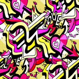 Gentle geometric background seamless vector pattern graffiti Stock Image