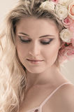 The gentle girl face close Royalty Free Stock Photography
