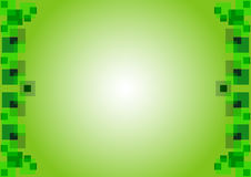 The gentle green background with squares Royalty Free Stock Photography