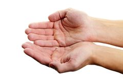 Gentle hands Royalty Free Stock Images