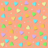 Gentle hearts background. Vector graphic illustration design Royalty Free Stock Photo