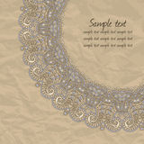 Gentle lace greeting card. Stock Photography