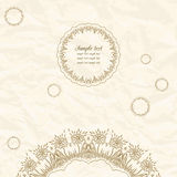 Gentle lace greeting card. Royalty Free Stock Photo