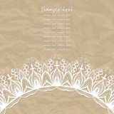 Gentle lace greeting card. Stock Image