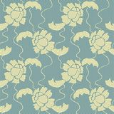 Gentle lace vector fabric seamless pattern Stock Photos