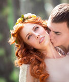 Gentle loving couple Royalty Free Stock Images
