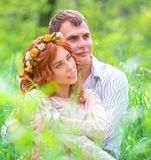 Gentle loving couple Stock Images