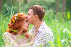 Gentle loving couple Royalty Free Stock Image
