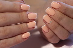 Gentle manicure nail design stock photos