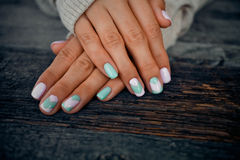 Gentle manicure Stock Images