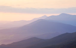 Gentle Morning colors in Mountain range Landscape Stock Photography