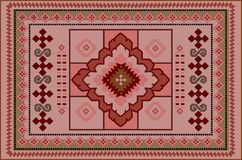 Vintage pattern of luxurious old oriental carpet with burgundy, red, pink and beige shades. Gentle pattern of luxurious old oriental carpet with burgundy, red royalty free illustration
