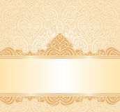 Gentle peach wedding invitation floral  background Royalty Free Stock Photography