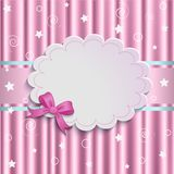 Gentle pink background. Pink background with bow, vintage design Royalty Free Stock Photos