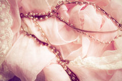 Gentle pink and laces Stock Photos