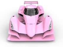 Free Gentle Pink Super Sports Race Car - Front View Closeup Shot Royalty Free Stock Image - 114666496