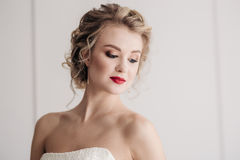 Gentle portrait of bride blonde Royalty Free Stock Photo
