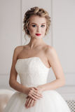 Gentle portrait of bride blonde Royalty Free Stock Image
