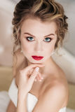 Gentle portrait of bride blonde Stock Images